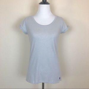 Girls Abercrombie Kids Short Sleeve Gray T-Shirt